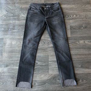 Stitch's Skinny Jeans Black Grey Wash Size 27